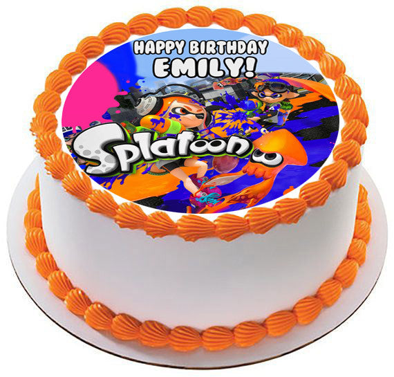 Splatoon Edible Cake Topper Amp Cupcake Toppers Edible