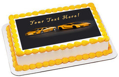 Sport Cars - Edible Cake Topper, Cupcake Toppers, Strips