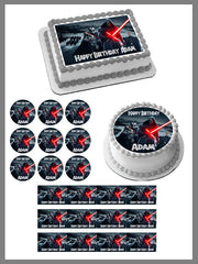 Star Wars 7 Force Awakens 1 Edible Birthday Cake Topper OR Cupcake Topper, Decor - Edible Prints On Cake (Edible Cake &Cupcake Topper)