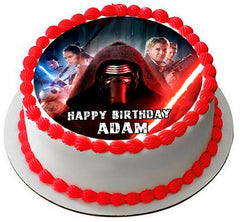 Star Wars 7 Force Awakens 3 Edible Birthday Cake Topper OR Cupcake Topper, Decor