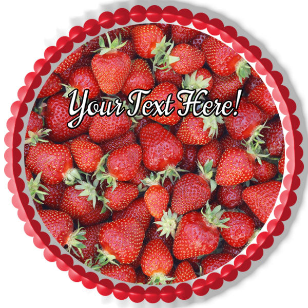 Strawberry Edible Cake Topper Cupcake Toppers Strips