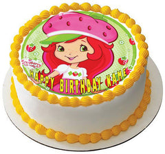 Strawberry Shortcake Edible Birthday Cake Topper OR Cupcake Topper, Decor