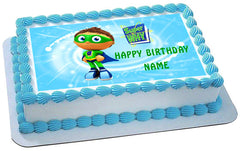 SUPER WHY 1 Edible Birthday Cake Topper OR Cupcake Topper, Decor - Edible Prints On Cake (Edible Cake &Cupcake Topper)