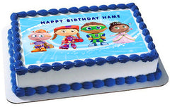 SUPER WHY 2 Edible Birthday Cake Topper OR Cupcake Topper, Decor - Edible Prints On Cake (Edible Cake &Cupcake Topper)