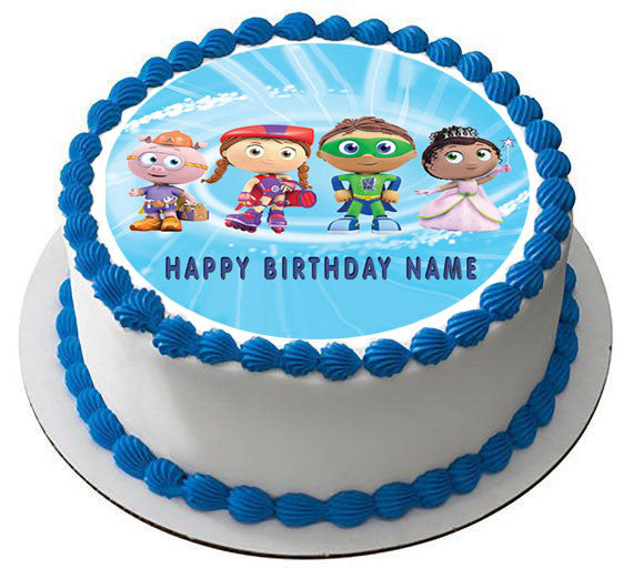 Super Why 2 Edible Birthday Cake Or Cupcake Topper