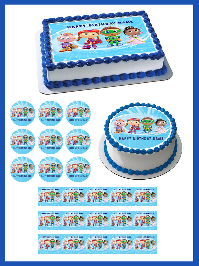 Super Why 2 Edible Birthday Cake Or Cupcake Topper Edible Prints