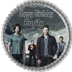 Supernatural Edible Birthday Cake Topper OR Cupcake Topper, Decor