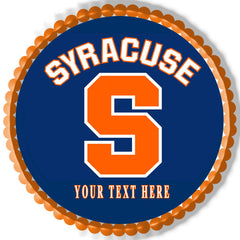 Syracuse University Edible Birthday Cake Topper OR Cupcake Topper, Decor - Edible Prints On Cake (Edible Cake &Cupcake Topper)