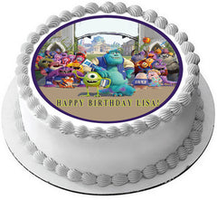 Monsters Inc University Edible Birthday Cake Topper OR Cupcake Topper, Decor - Edible Prints On Cake (Edible Cake &Cupcake Topper)