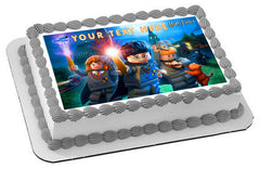 Harry Potter Lego - Edible Cake Topper OR Cupcake Topper, Decor