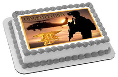 US Navy Seal Edible Birthday Cake Topper OR Cupcake Topper, Decor - Edible Prints On Cake (Edible Cake &Cupcake Topper)