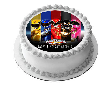 Power Rangers Megaforce Edible Cake Or Cupcake Topper
