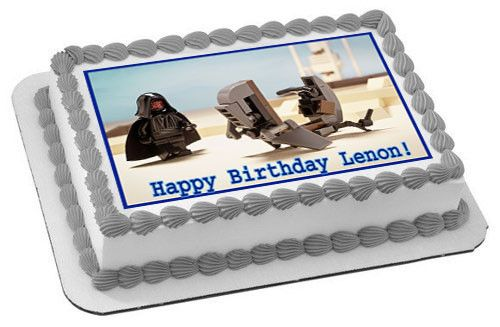 Lego Darth Maul Edible Birthday Cake Topper OR Cupcake Topper, Decor - Edible Prints On Cake (Edible Cake &Cupcake Topper)