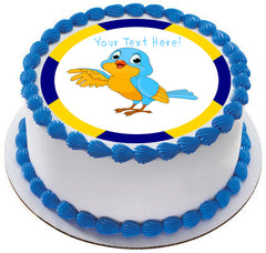Talking Bird - Edible Cake Topper, Cupcake Toppers, Strips