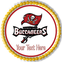 Tampa Bay Buccaneers - Edible Cake Topper OR Cupcake Topper, Decor