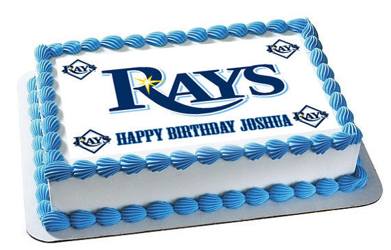 Tampa Bay Devil Rays Edible Birthday Cake Topper OR Cupcake Topper, Decor - Edible Prints On Cake (Edible Cake &Cupcake Topper)