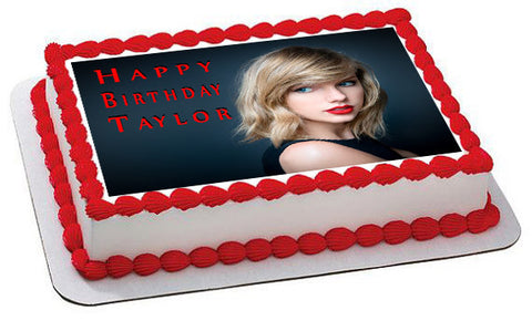 Taylor Swift - Edible Cake Topper OR Cupcake Topper, Decor
