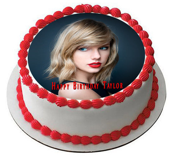 Taylor Swift Edible Birthday Cake Topper OR Cupcake Decor