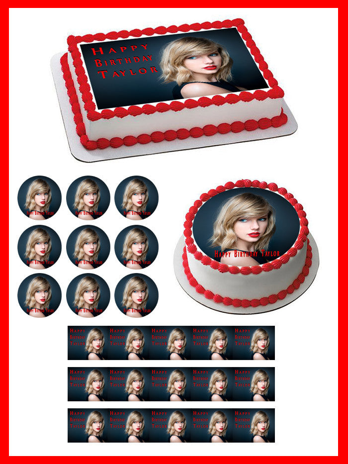 Taylor  x 20 Cupcake Toppers