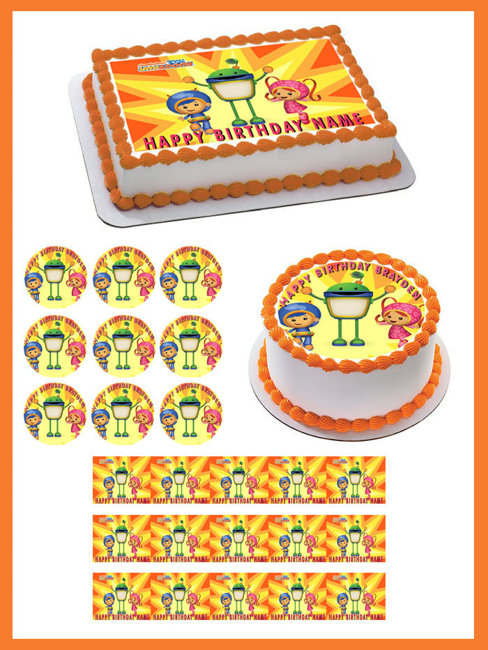 Amazing Team Umizoomi Edible Cake Topper Or Cupcake Topper Decor Personalised Birthday Cards Paralily Jamesorg