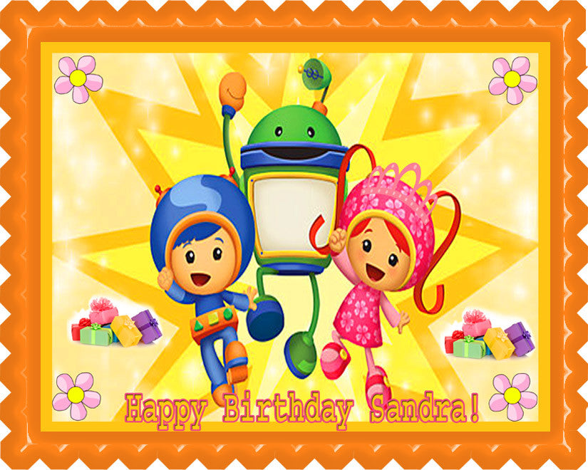 TEAM UMIZOOMI Birthday Image Edible Cake Topper Decoration