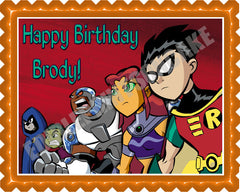 Teen Titans Go (Nr2) - Edible Cake Topper OR Cupcake Topper, Decor