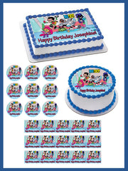 Teen Titans Go 3 Edible Birthday Cake Topper OR Cupcake Topper, Decor