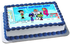 Teen Titans  Go 1 Edible Birthday Cake Topper OR Cupcake Topper, Decor