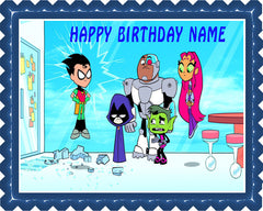 Teen Titans  Go - Edible Cake Topper OR Cupcake Topper, Decor