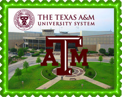 Texas A&M University 2 Edible Birthday Cake Topper OR Cupcake Topper, Decor - Edible Prints On Cake (Edible Cake &Cupcake Topper)