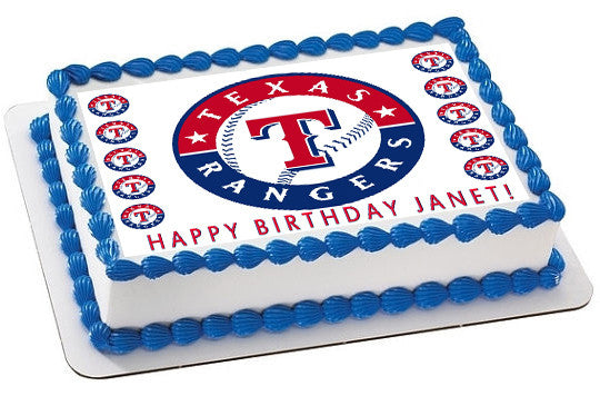 Texas Rangers Edible Cake Topper Amp Cupcake Toppers
