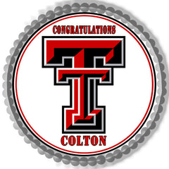 Texas Tech University (Nr2) - Edible Cake Topper OR Cupcake Topper, Decor