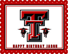 Texas Tech University (Nr1) - Edible Cake Topper OR Cupcake Topper, Decor