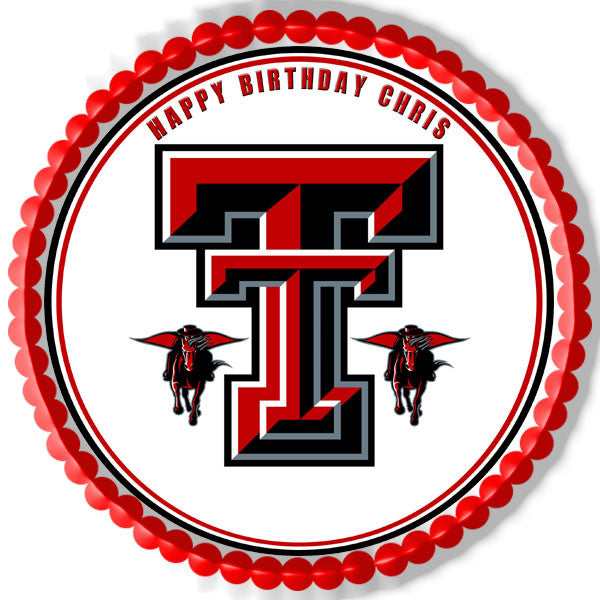 Texas Tech University 1 Edible Birthday Cake Or Cupcake