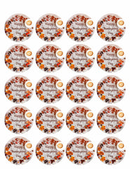 Thanksgiving VI - Edible Cake Topper, Cupcake Toppers, Strips