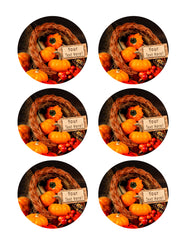 Thanksgiving IV - Edible Cake Topper, Cupcake Toppers, Strips