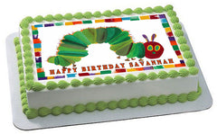 THE HUNGRY CATERPILLAR - Edible Cake Topper or Cupcake topper, Decor