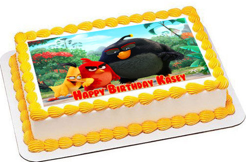 The Angry Birds Movie Edible Birthday Cake Topper OR Cupcake Decor