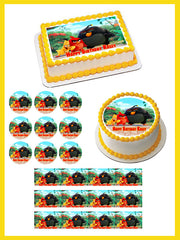 The Angry Birds Movie Edible Birthday Cake Topper OR Cupcake Topper, Decor - Edible Prints On Cake (Edible Cake &Cupcake Topper)