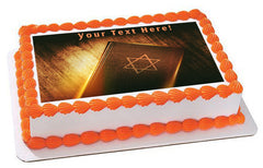 The Book of Judaism - Edible Cake Topper, Cupcake Toppers, Strips