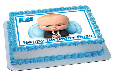 The Boss Baby Edible Birthday Cake Topper OR Cupcake Topper, Decor