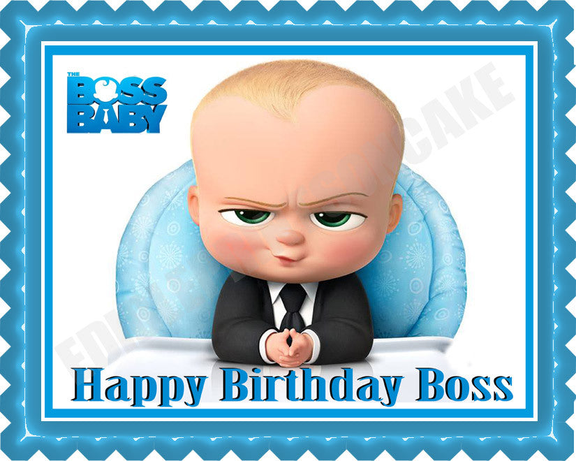 The Boss Baby Edible Cake Topper Or Cupcake Toppers Edible