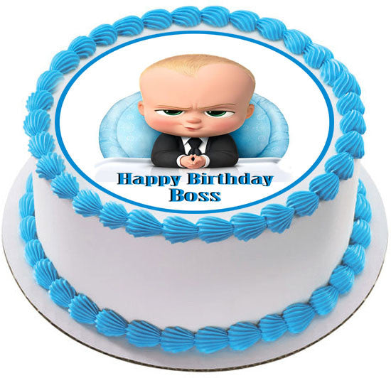 The Boss Baby Edible Cake Topper Amp Cupcake Toppers