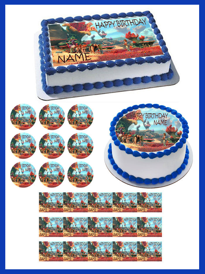 The Croods Edible Birthday Cake Or Cupcake Topper Edible Prints On