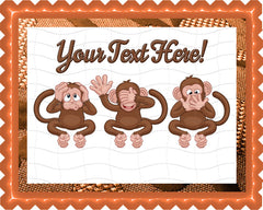 The Monkeys Faces - Edible Cake Topper, Cupcake Toppers, Strips