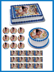 THE PRINCESS AND THE FROG Edible Birthday Cake Topper OR Cupcake Topper, Decor