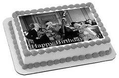 The Three Stooges 2 Edible Birthday Cake Topper OR Cupcake Topper, Decor - Edible Prints On Cake (Edible Cake &Cupcake Topper)