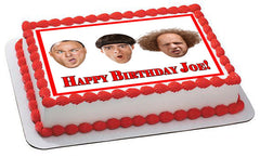 The Three Stooges 1 Edible Birthday Cake Topper OR Cupcake Topper, Decor - Edible Prints On Cake (Edible Cake &Cupcake Topper)