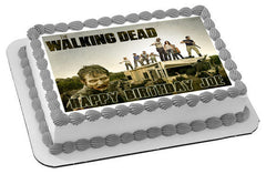 The Walking Dead 3 Edible Birthday Cake Topper OR Cupcake Topper, Decor - Edible Prints On Cake (Edible Cake &Cupcake Topper)