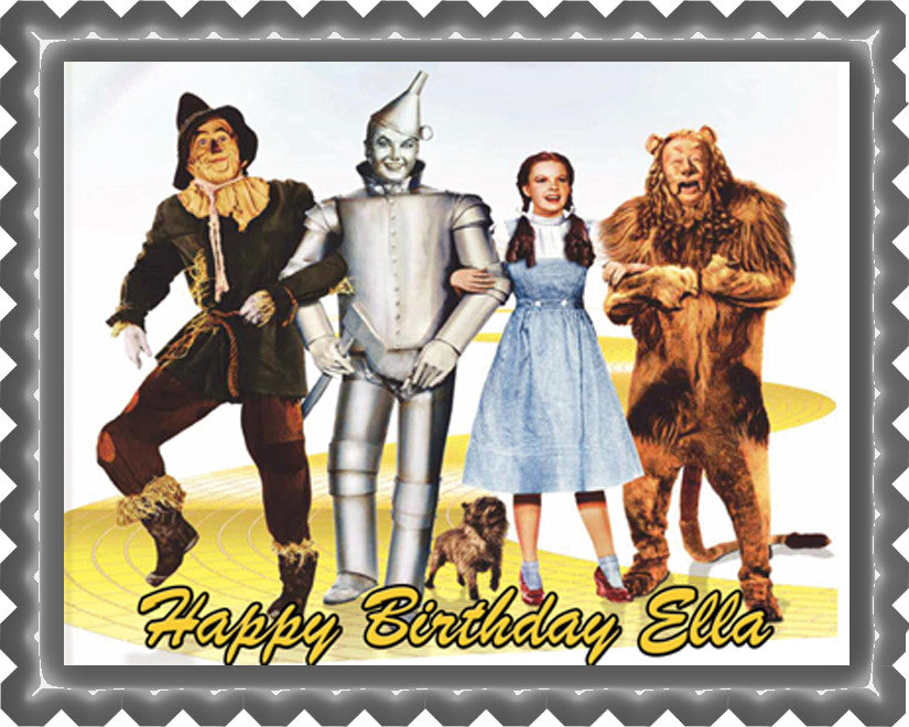 The Wizard of Oz Edible Birthday Cake Topper OR Cupcake Topper, Decor - Edible Prints On Cake (Edible Cake &Cupcake Topper)